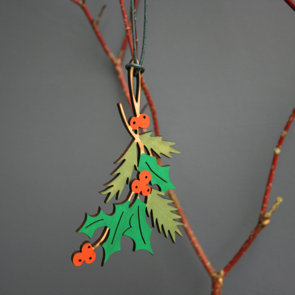 Naomi Greaves, NG Printmaker, NG Paperology, Mistletoe Ornaments, Christmas Decorations,