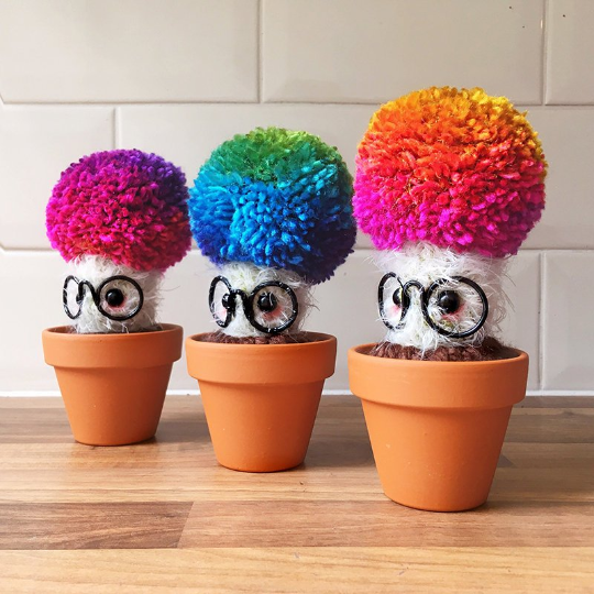 crochet cacti, crochet cactus, Yarntistry, Lou Barnes, craft and mental health, mental health, crochet, amigurumi, Simply Crochet host,