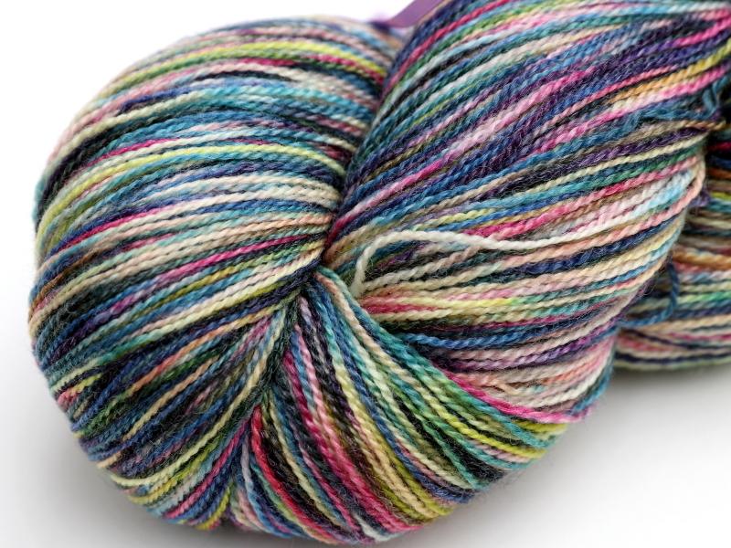 hand-dyed yarn, abstract cat, crochet yarn,