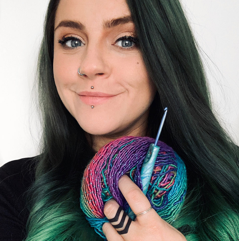 Yarntistry, Lou Barnes, craft and mental health, mental health, crochet, amigurumi, Simply Crochet host,