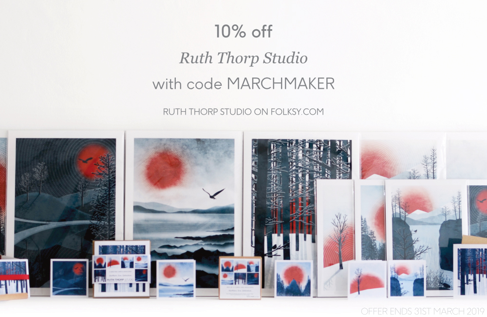 Ruth Thorp, Ruth Thorp illustrator, UK illustration, illustrated art prints, meet the maker,