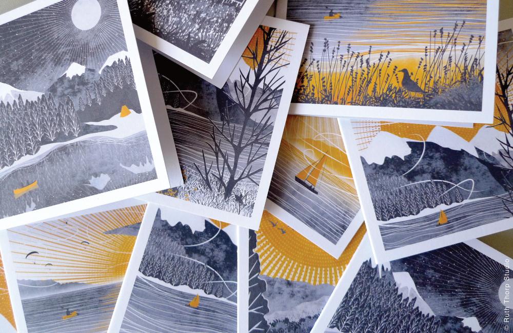 Ruth Thorp, Ruth Thorp illustrator, UK illustration, illustrated art prints, meet the maker,