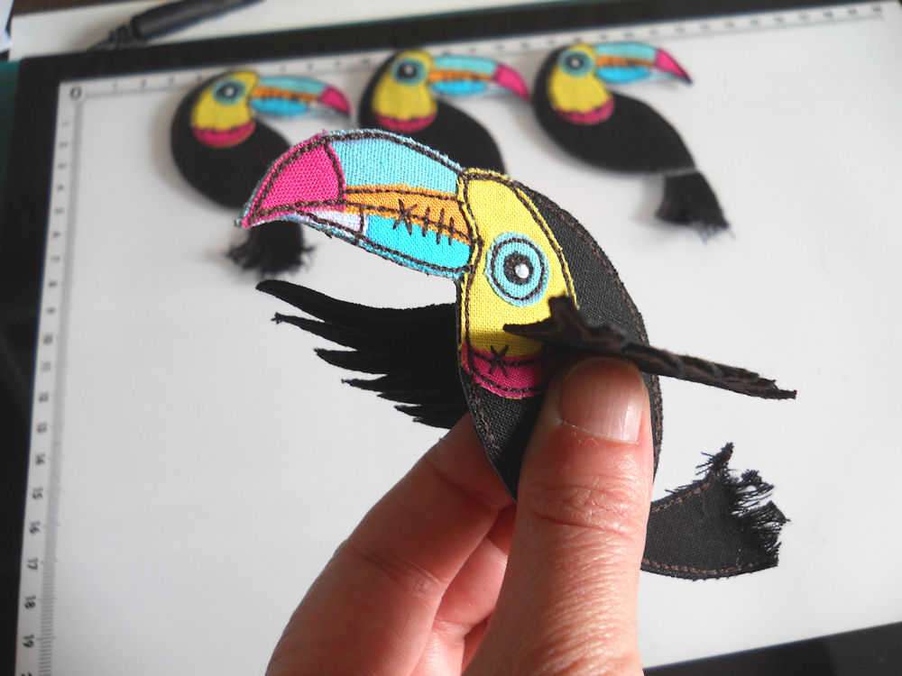 textile toucan, folksy friday
