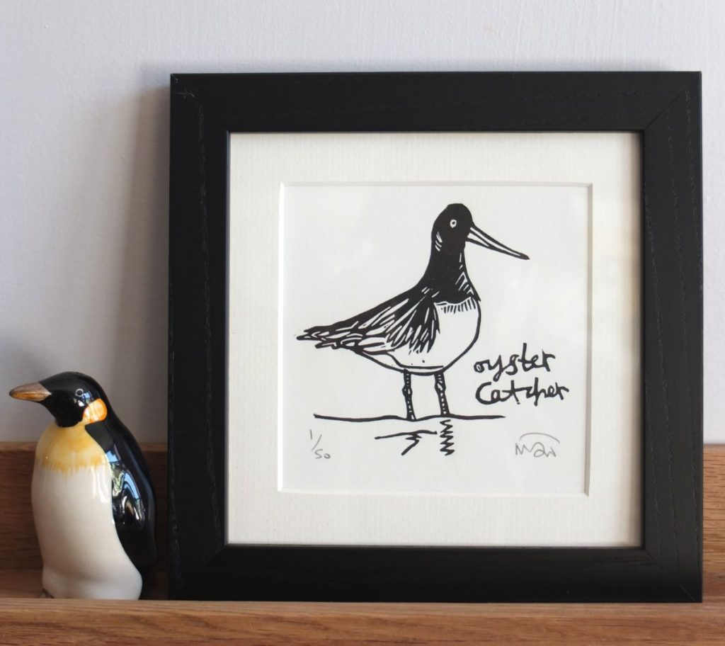 Oyster Catcher print by by Melanie Wickham