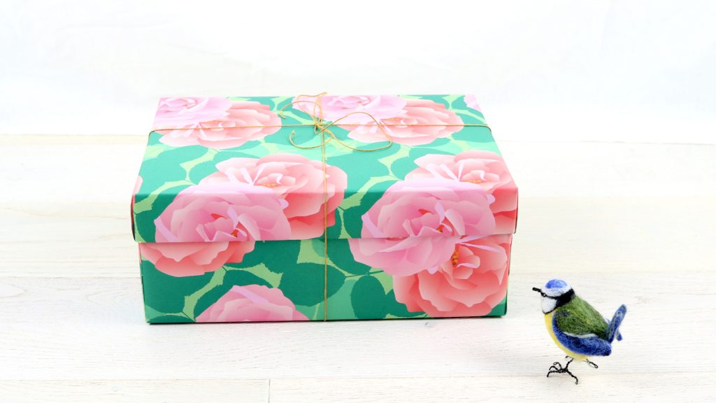 Present wrapped in Rose Gift Wrap by Jane Crick