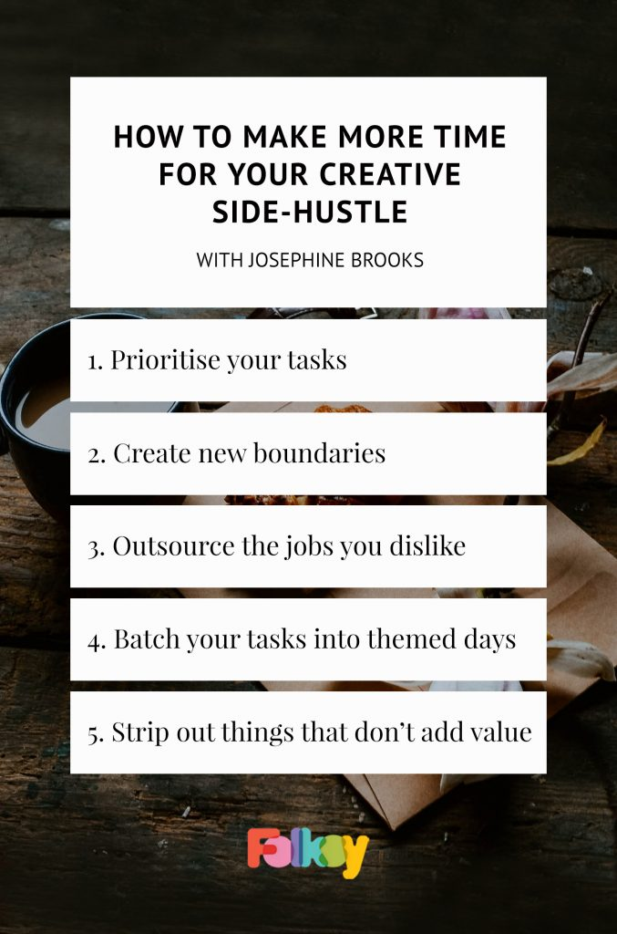 Tips for making more time for your creative side business