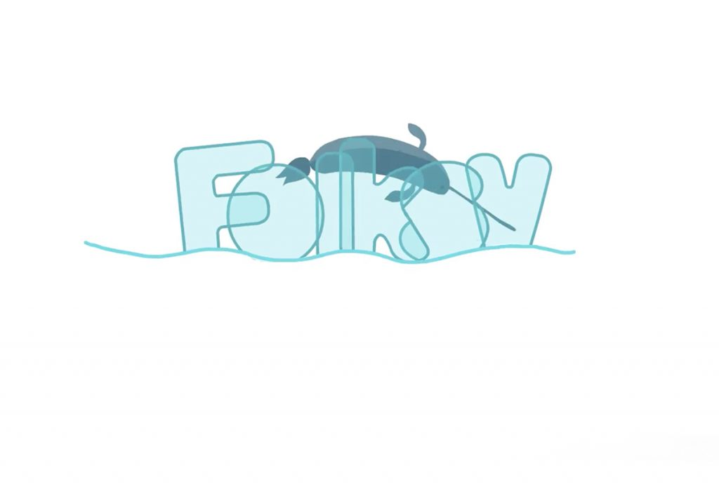 Folksy Logo with Narwhal