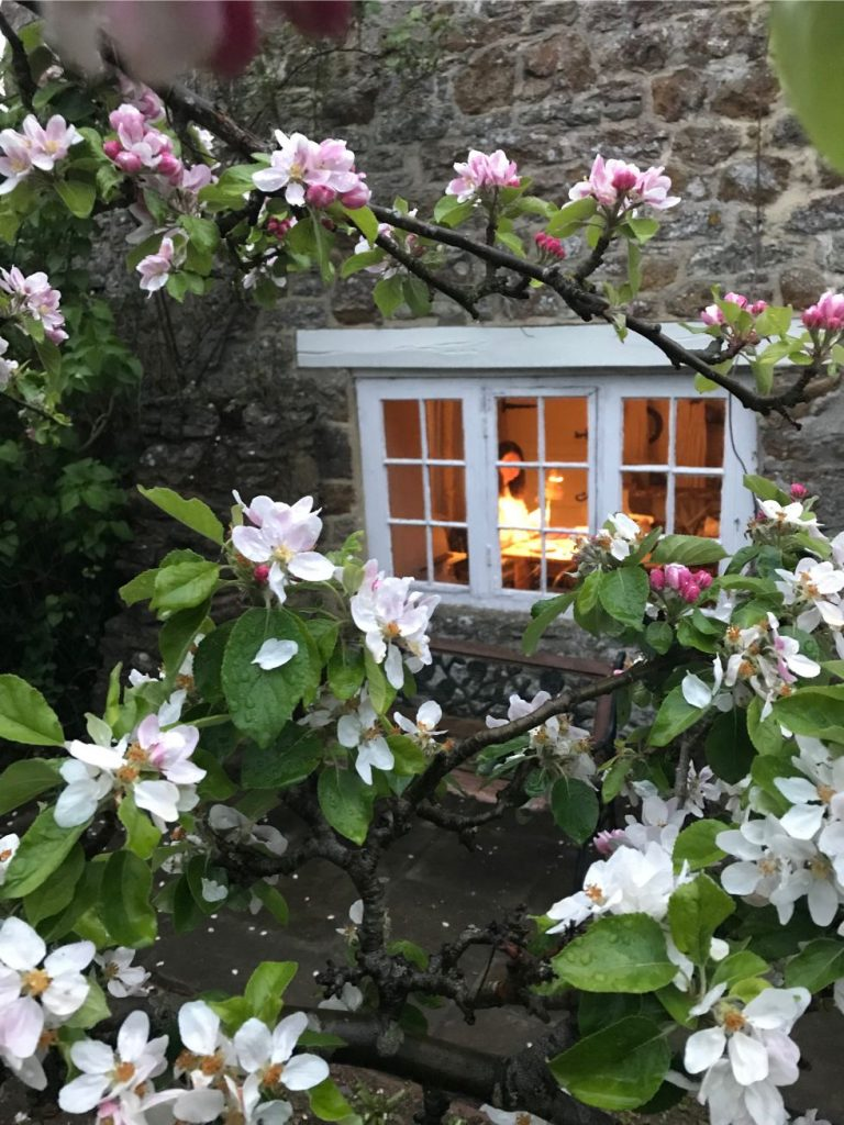 Pretty Cottage Window at the home of The sewing room of Erica Jane Waters from Wilderstitch