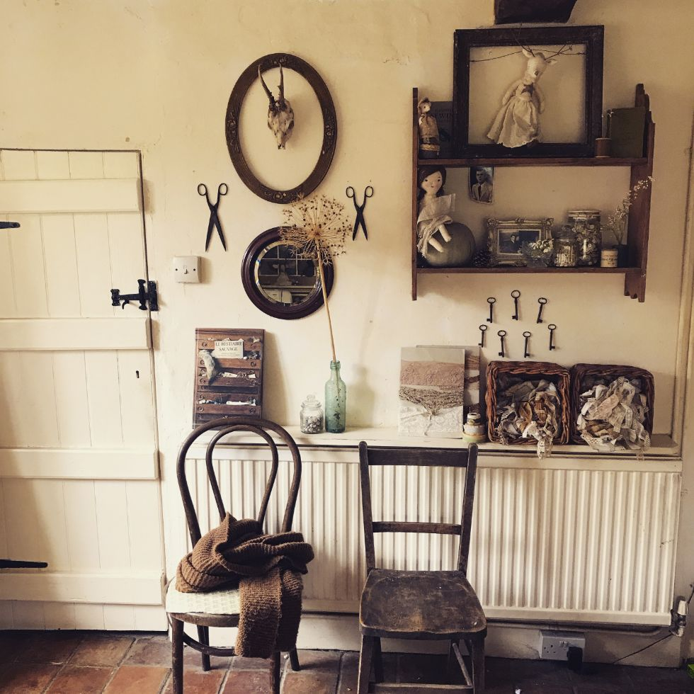 The sewing room of Erica Jane Waters from Wilderstitch