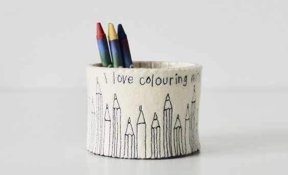 handmade pen pot to illustrate why sell on Folksy