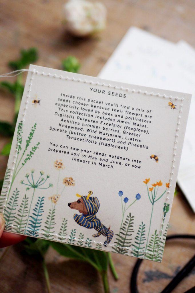 Bee friendly seed packet