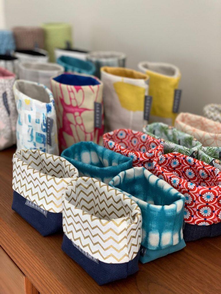 fabric storage baskets by Sakarma Handmade