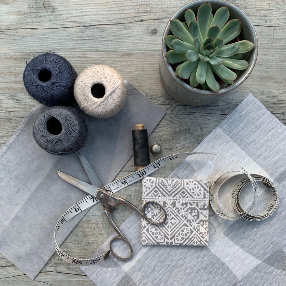 sewing flatlay by Sakarma Handmade