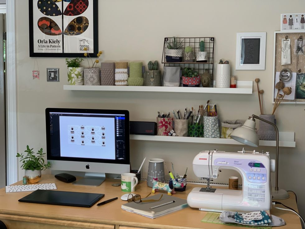 the desk of Sakarma Handmade