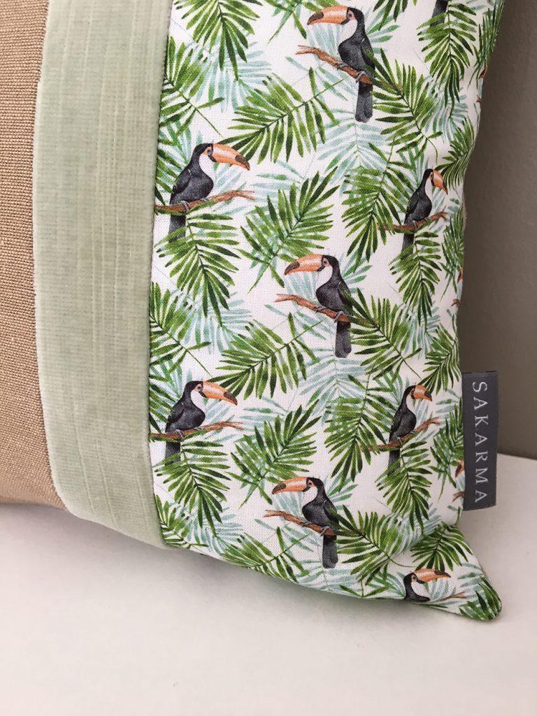 Toucan cushion by Sakarma Handmade