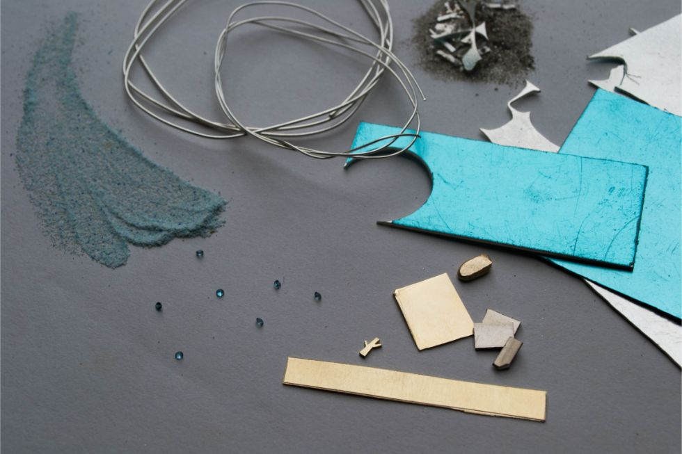 Elby Brown Jewellery materials