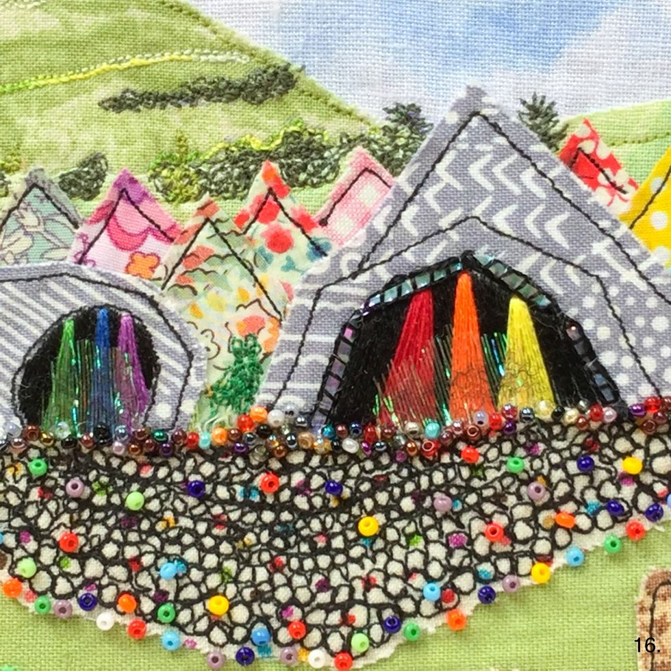 Glastonbury Embroidered Hoop Art Tutorial