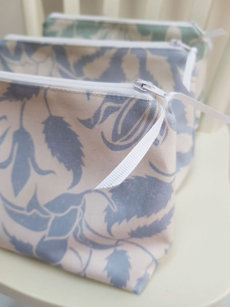 make-up bags made in the Cotswolds by My Blue Shed