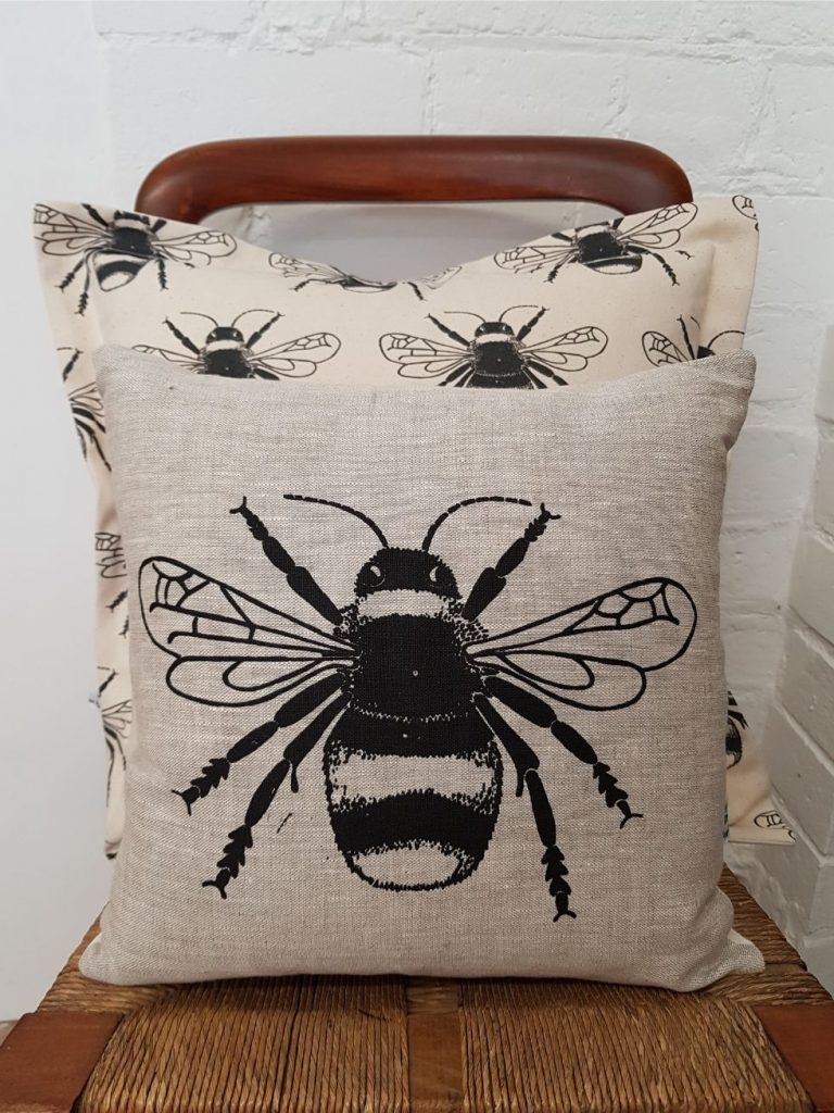 bee cushions by My Blue Shed