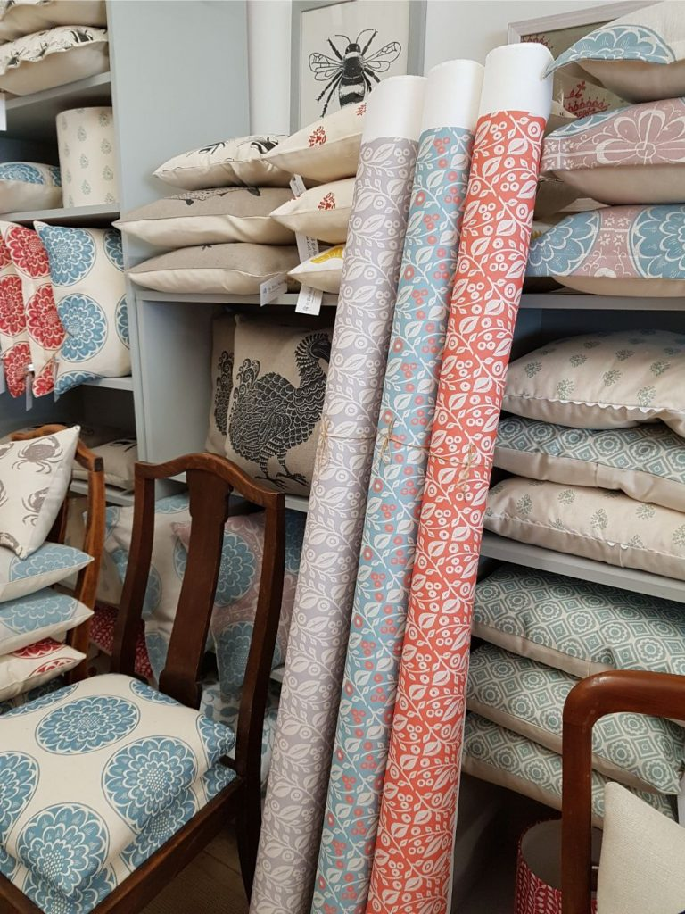 printed fabric by the metre designed in the Cotswolds by My Blue Shed