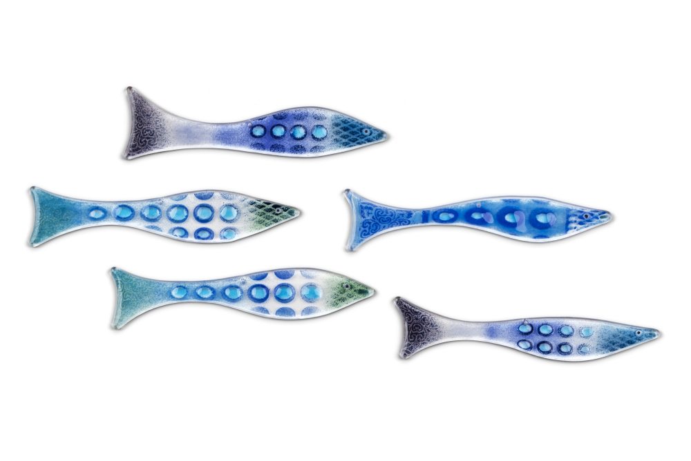 Robyn Coetzee fused glass fish