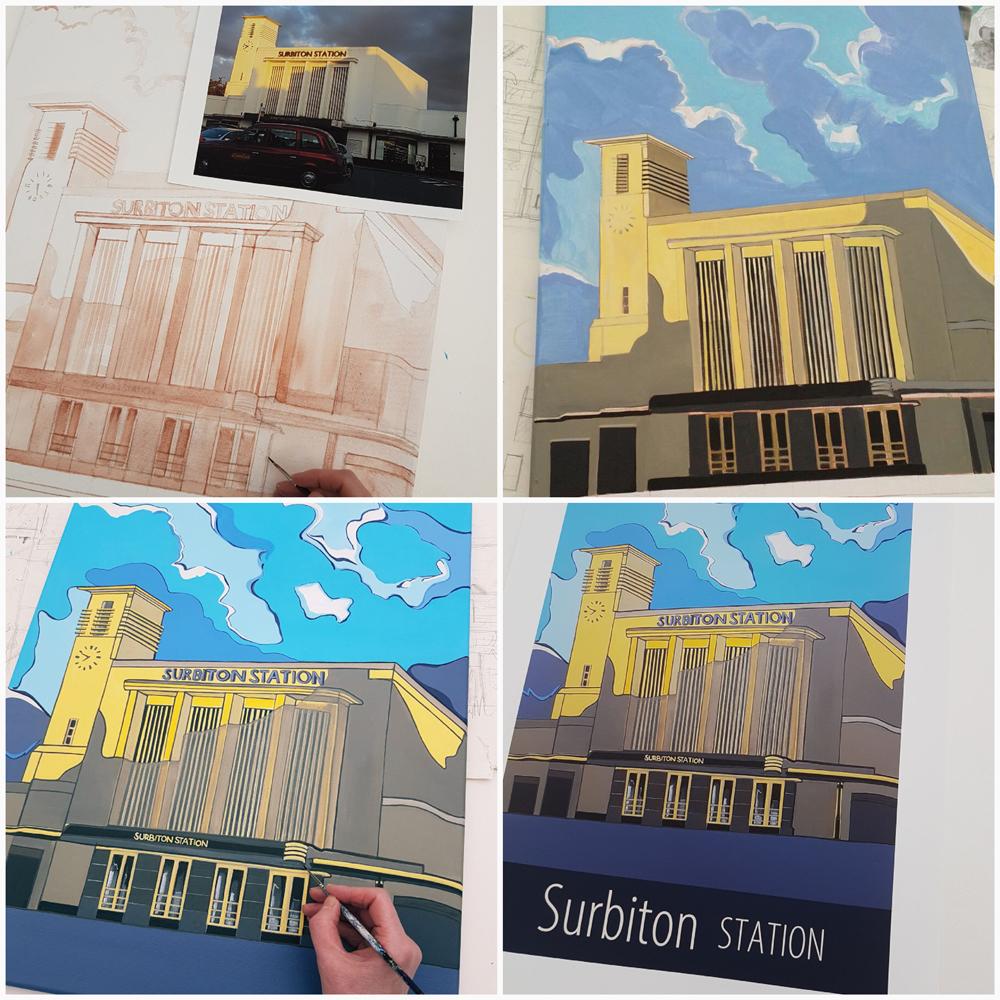 Surbiton poster by artist Susie West