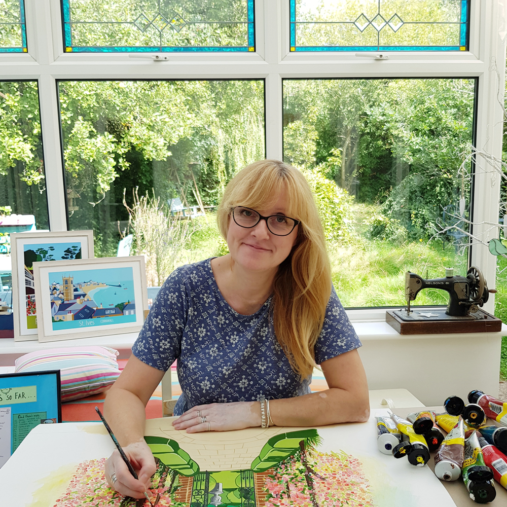 artist Susie West in her studio