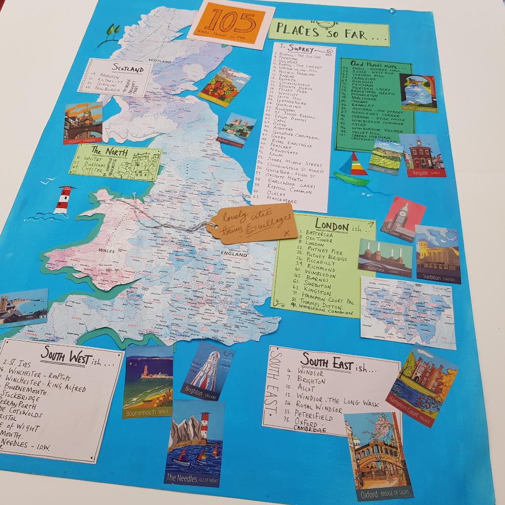 British villages, towns and cities posters by artist Susie West
