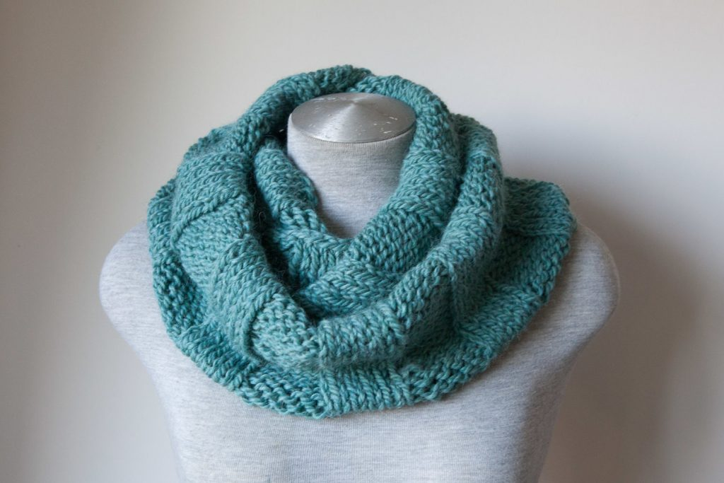 Sea green alpaca cowl maya croft