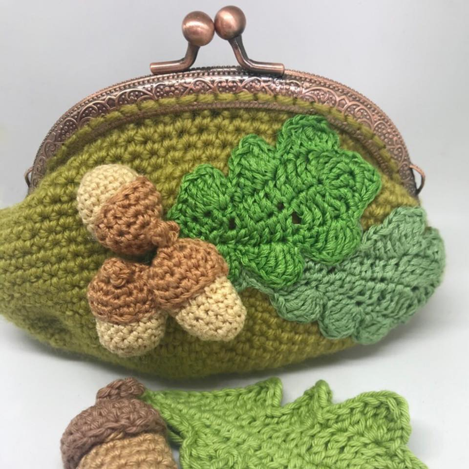 acorn purse crochet pattern wonderful world of crafting
