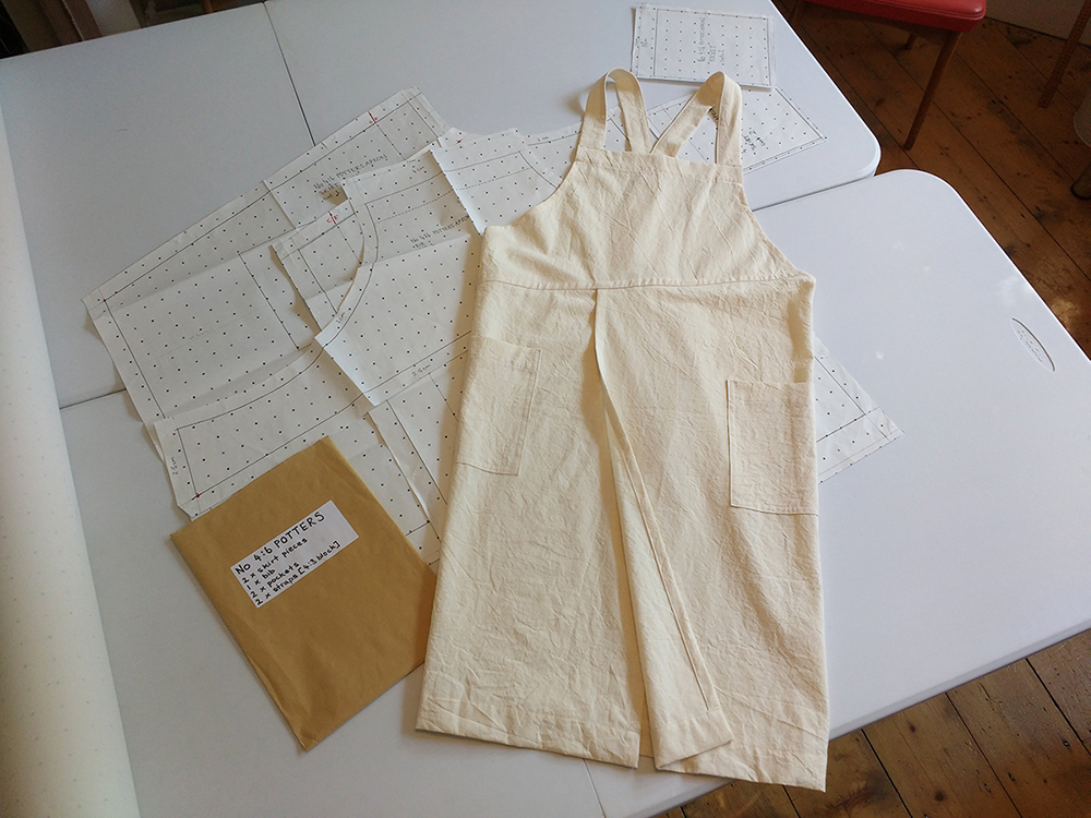 craft apron pattern and toile