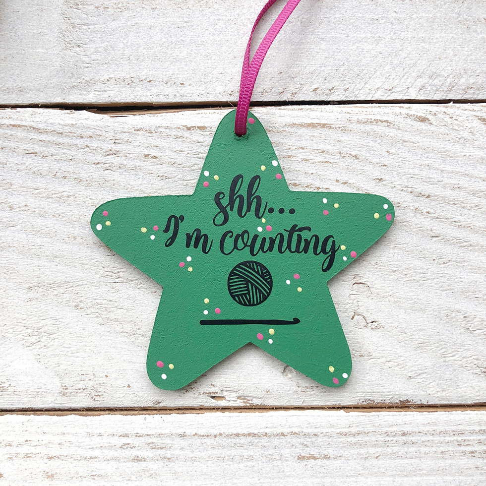 shhh I'm counting decorative star by Pedro's Plaques