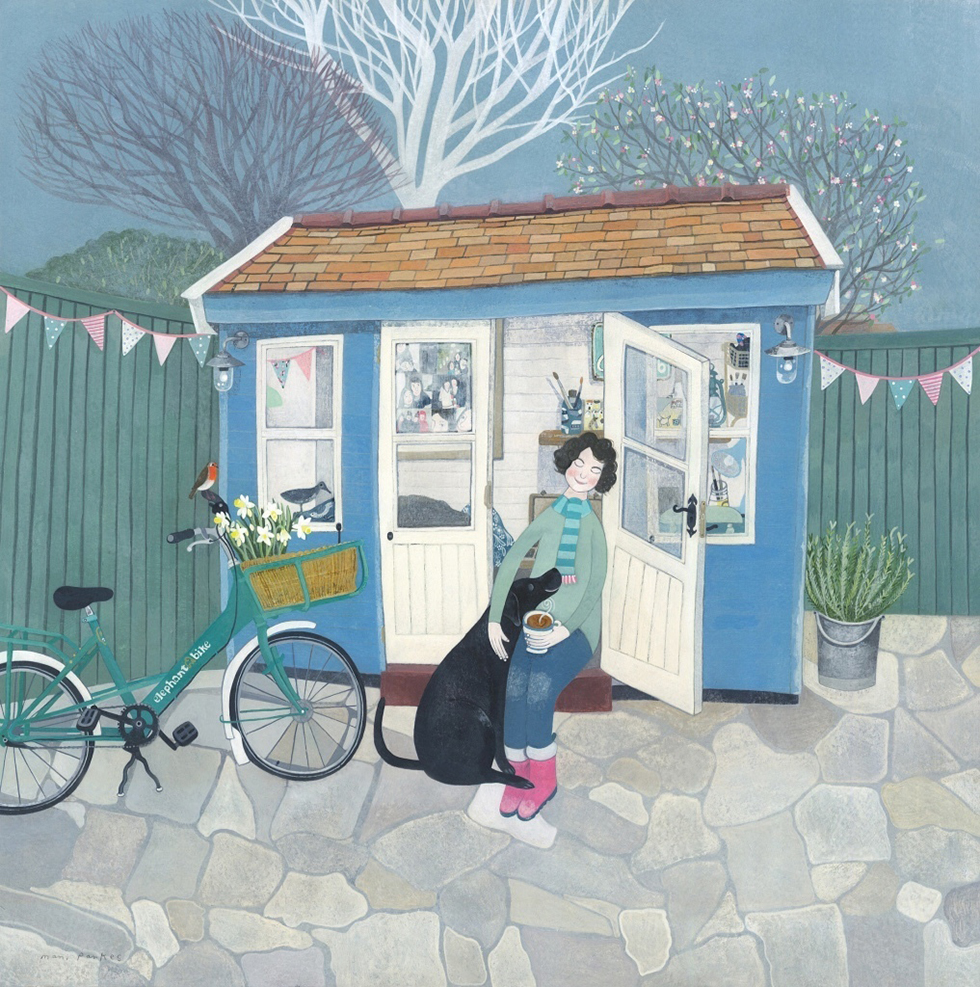 Jane's Shed by Mani Annie Art