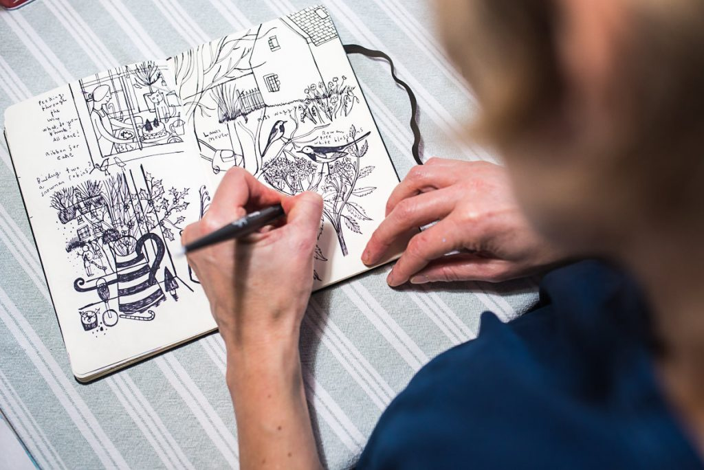 Mani Annie Art drawing