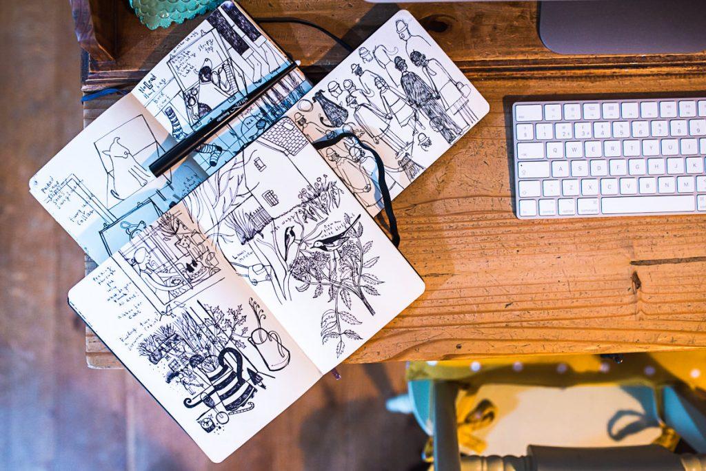 Mani Annie Art sketchbooks