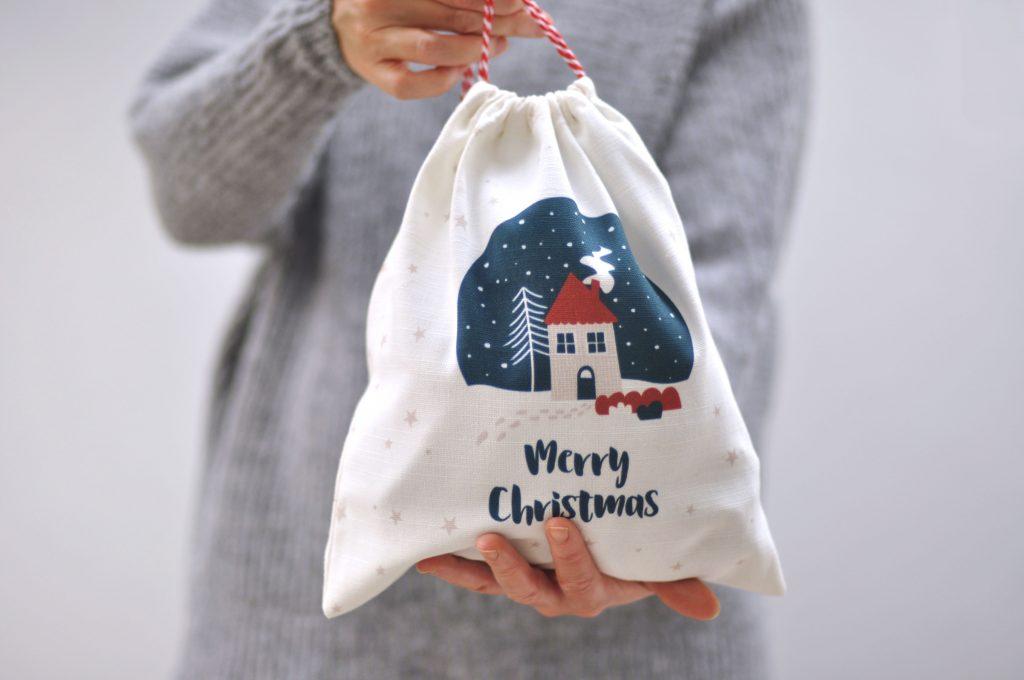 Zedig Design reusable christmas gift bag