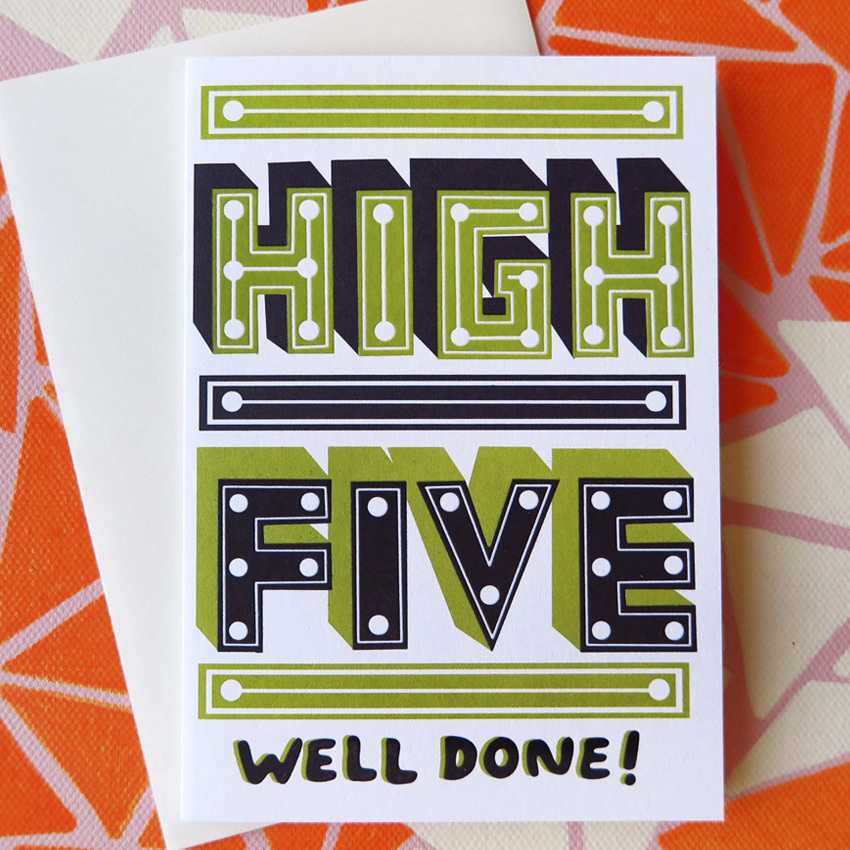 High Five Card by Thefty
