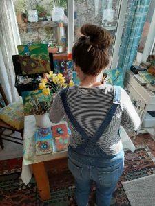 The Devon studio of artist Hesta Singlewood from Bodkin Creates