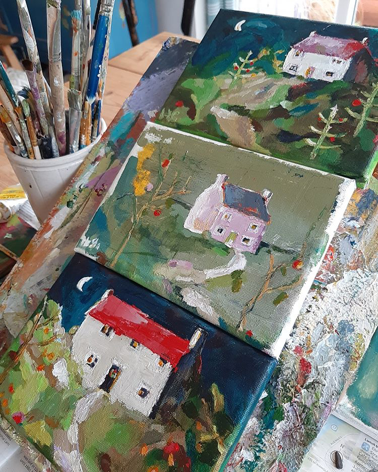 The Devon studio of artist Hesta Singlewood from Bodkin Creates