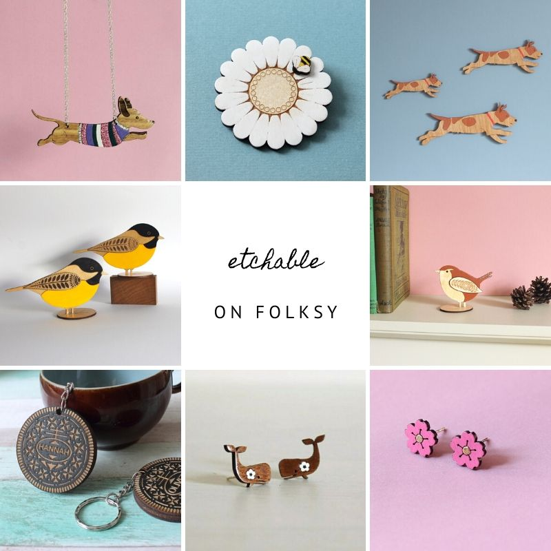 Etchable gifts and homeware on Folksy