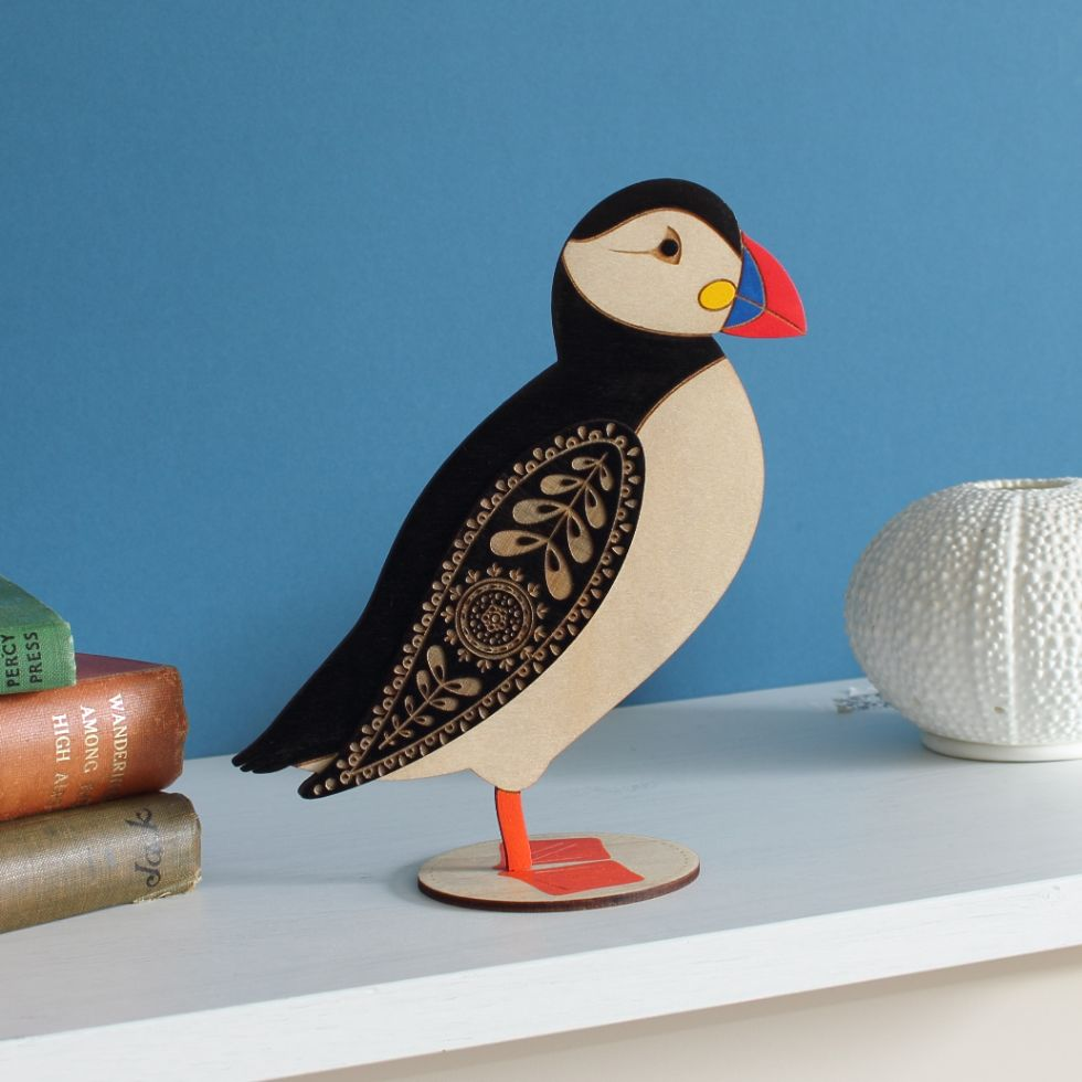 Puffin decoration by Etchable