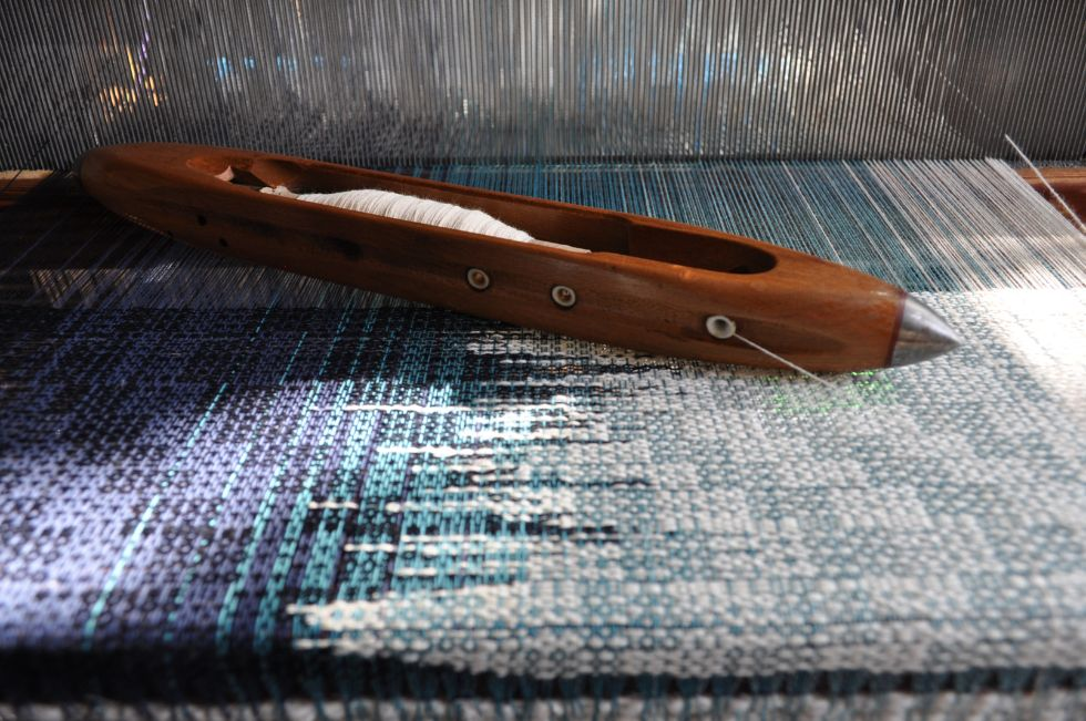 contemporary weaving on the loom by Hem Handowoven