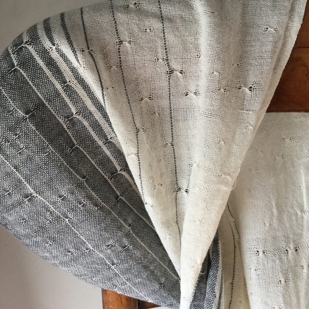 Raindrops on the Window handwoven scarf by Hem Handwoven