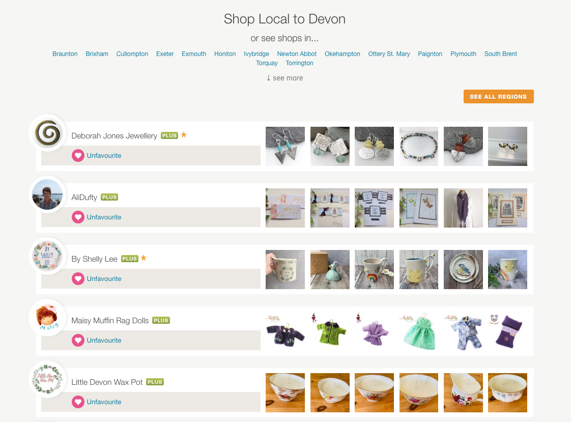 Shop by Region on Folksy - Devon artists and makers