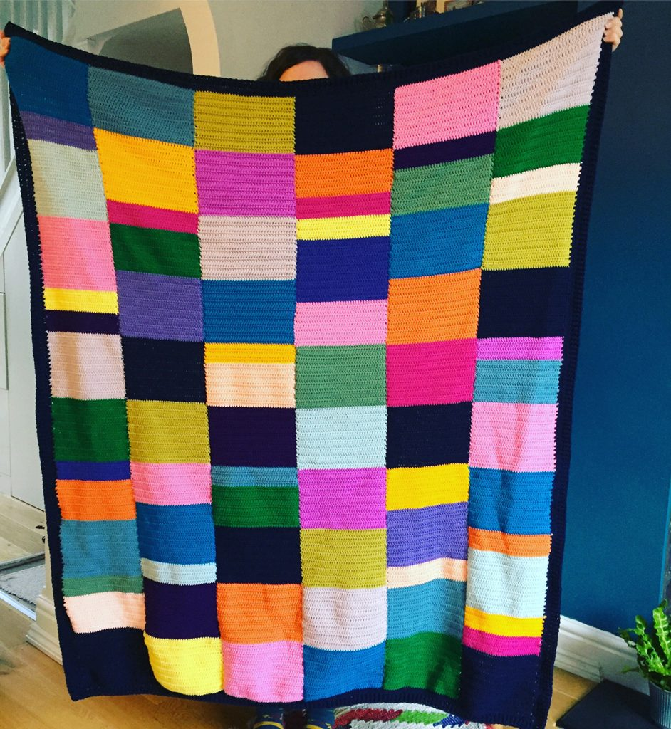 Clare Gets Crafty Crochet Colour Block Patchwork Blanket
