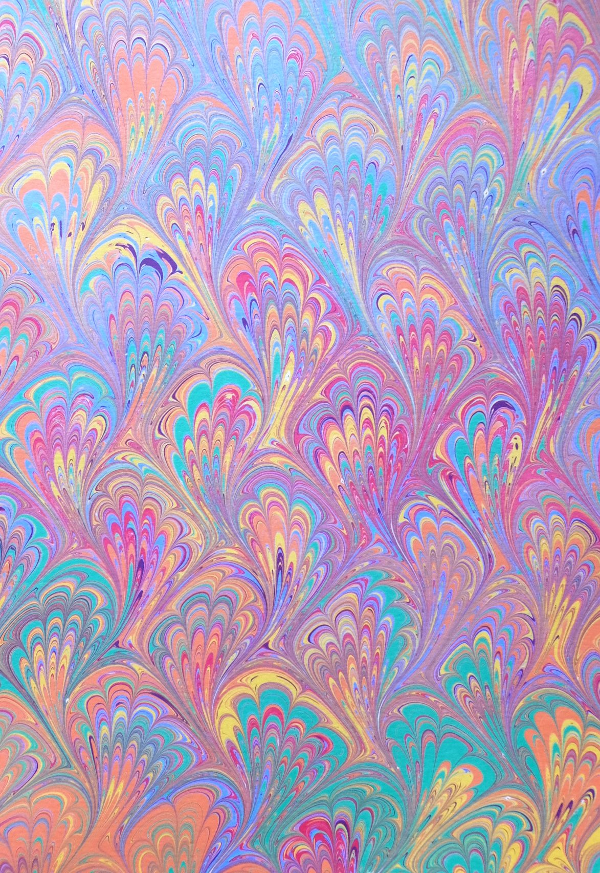 hand marbled paper by The Whimsical Marbler