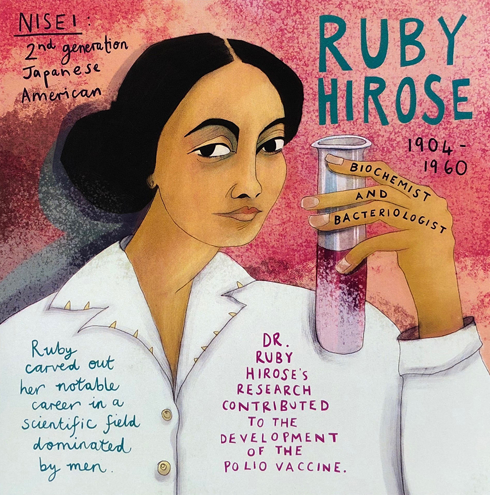 Ruby Hirose painted by Trudi Murray