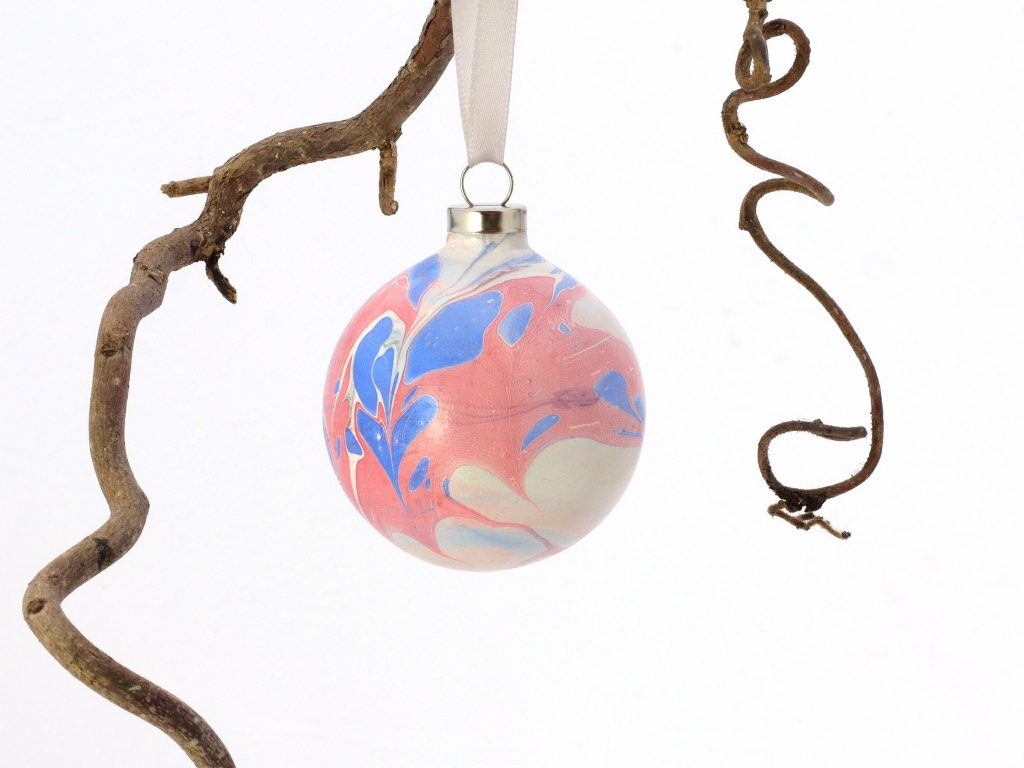 marbled bauble christmas decoration