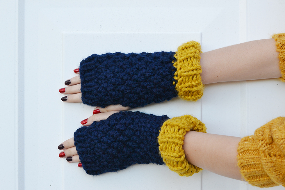 Women's Knitted Chunky Gloves by Hats and More