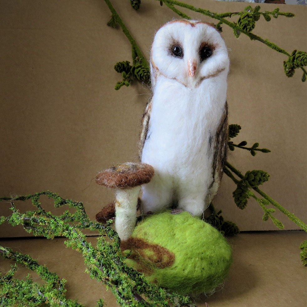 Woodland Barn Owl by Breeze and Berry